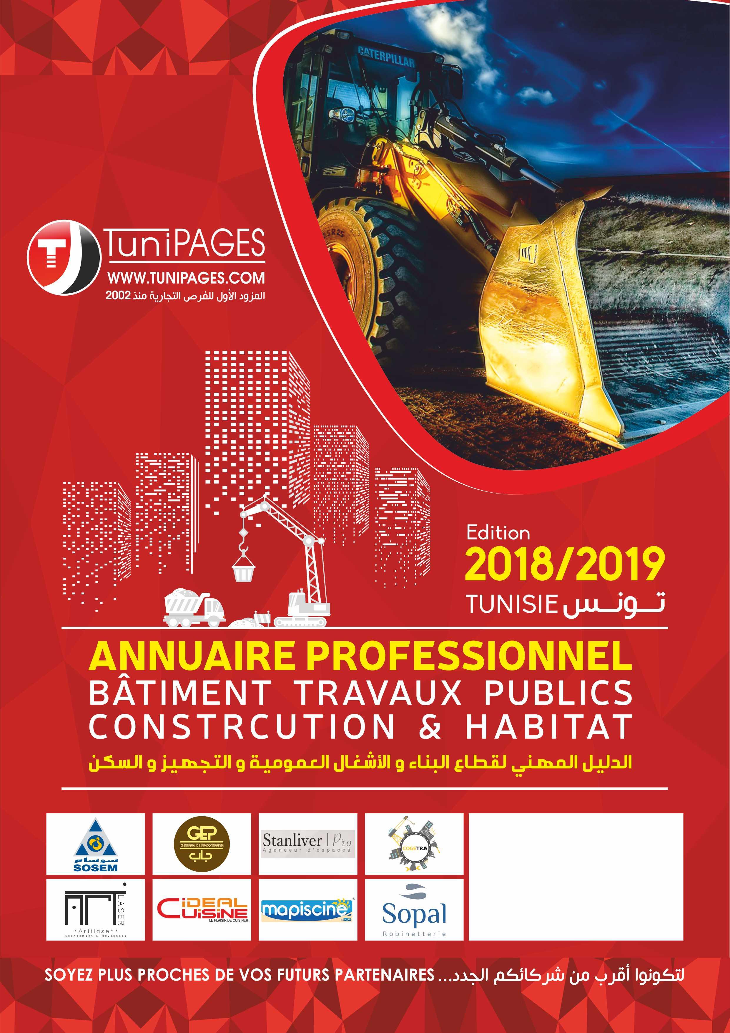 Annuaire Professionnel Bâtiment et Travaux Publics, Construction&Habitat édition 2018/2019