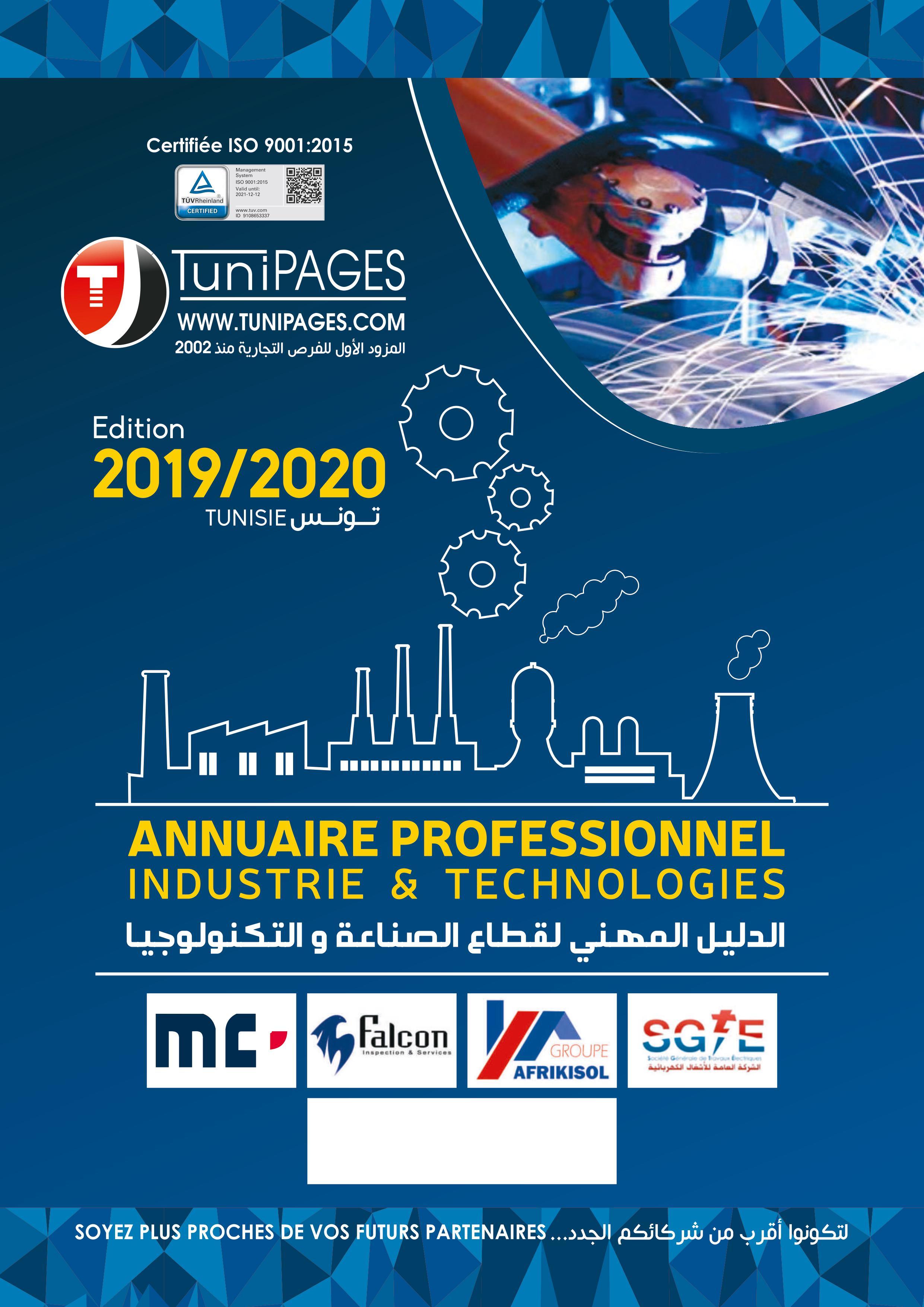 Annuaire Professionnel Industrie&Technologies édition 2019/2020