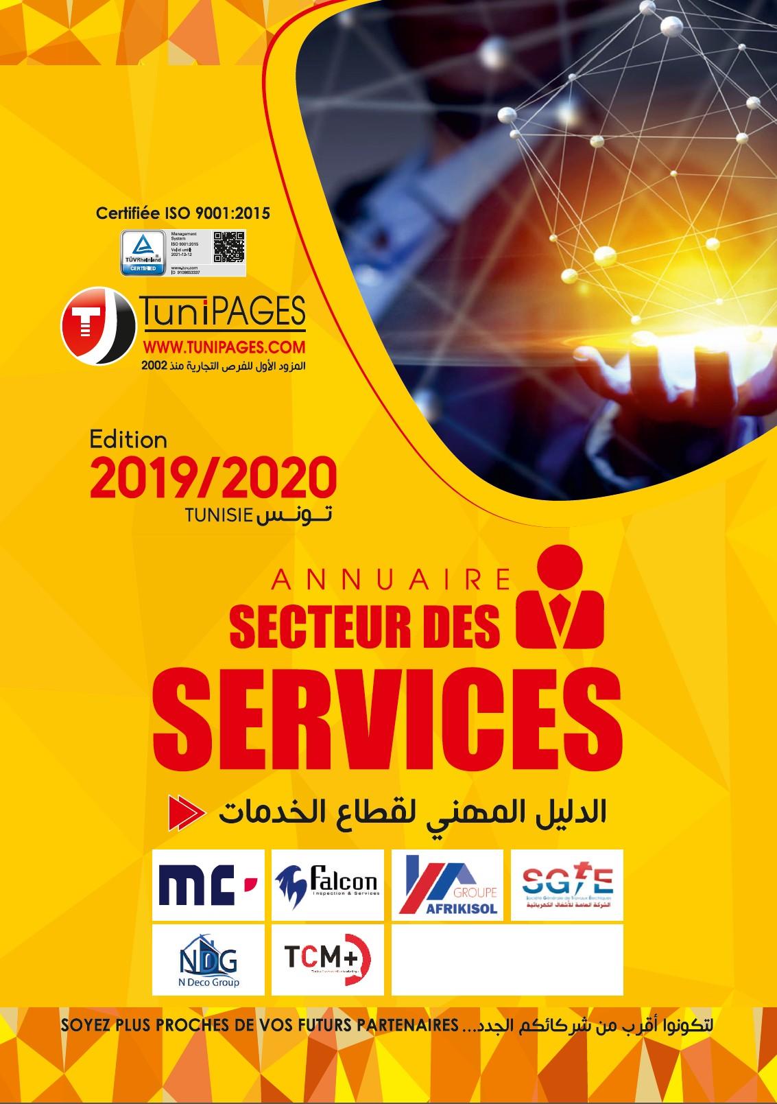 Annuaire Professionnel secteur des services édition 2019/2020